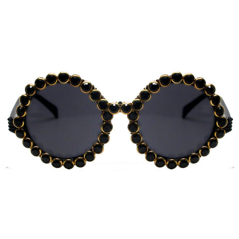 Peterson embellished round oversize sunglasses