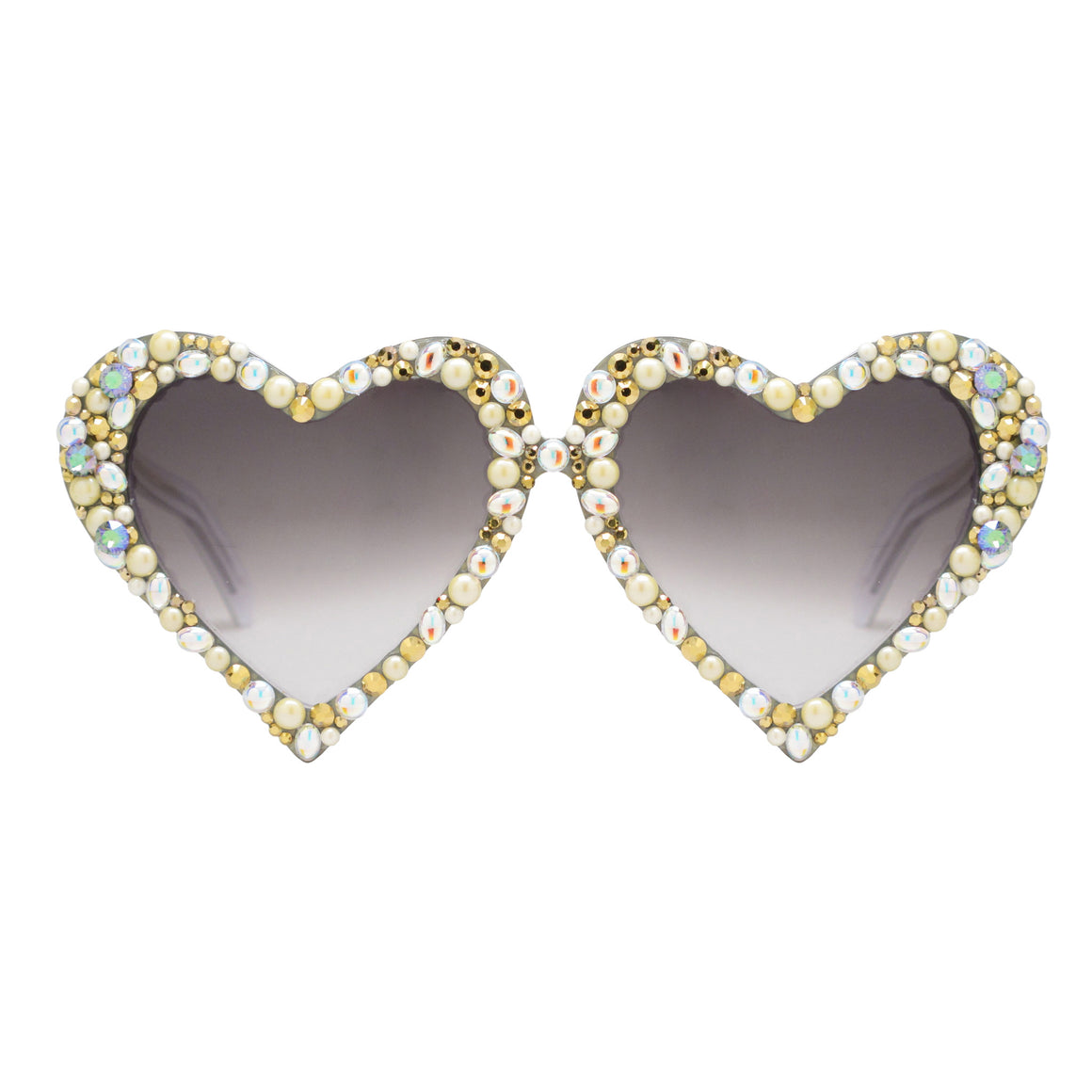 Emma embellished heart shaped glasses