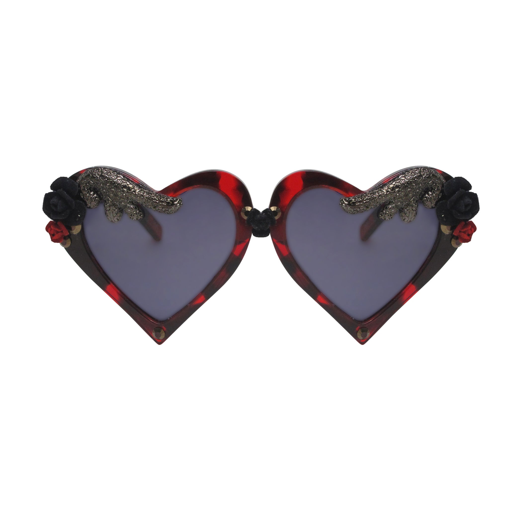 Agnew wing embellished heart shaped frames