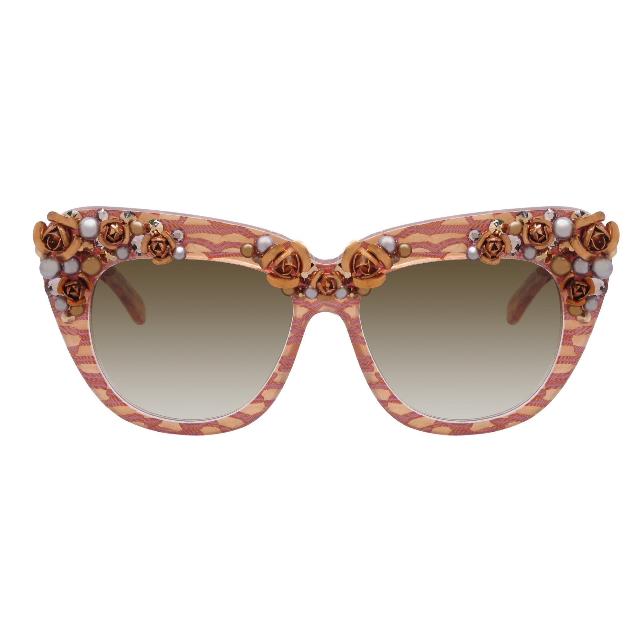 Billy floral accent square sunglasses