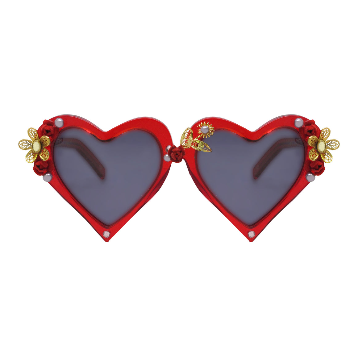 Corin red heart shaped sunnies
