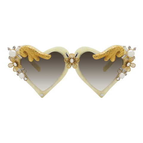Karren embellished heart shaped sunnies
