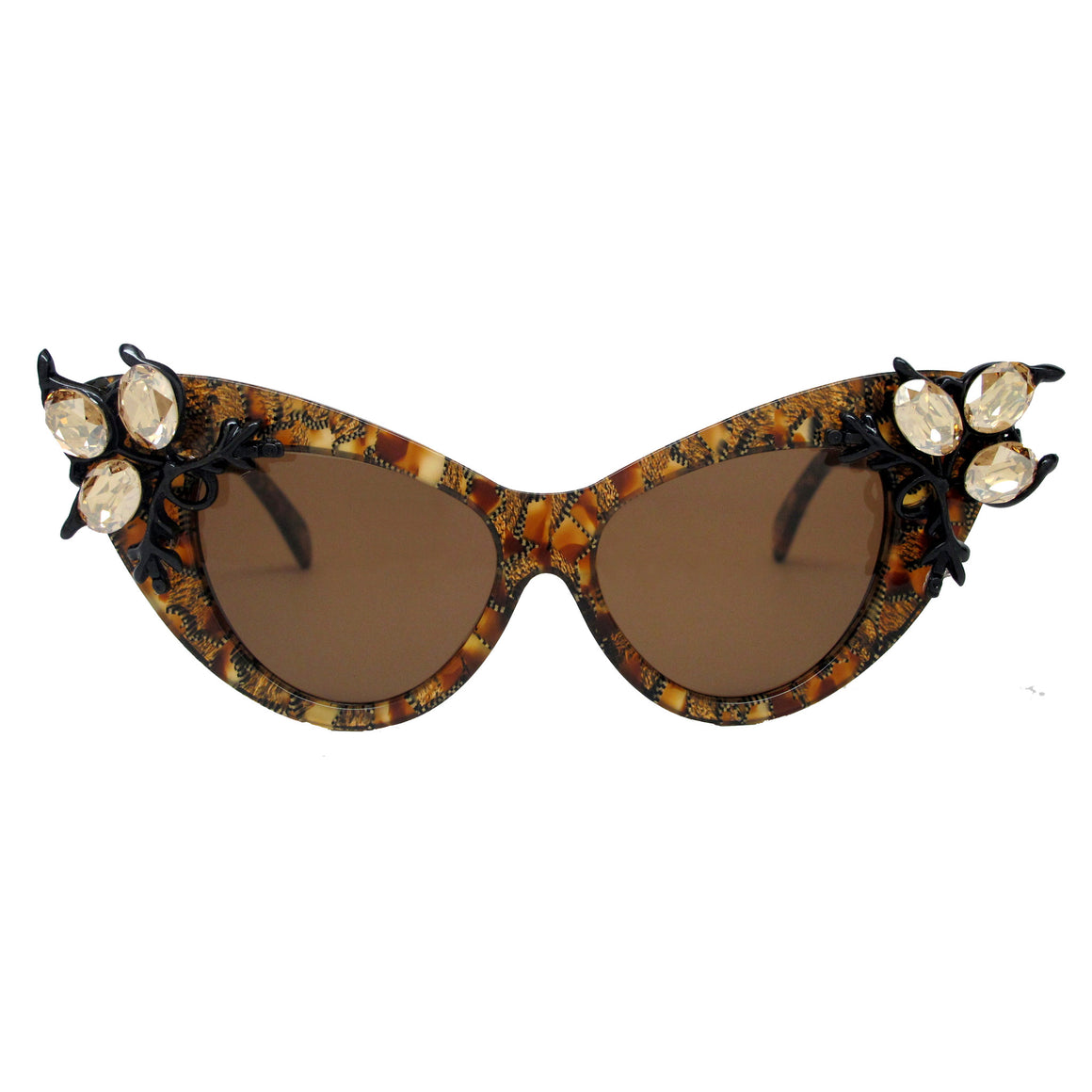 Bechdel Tortoise embellished cat eye