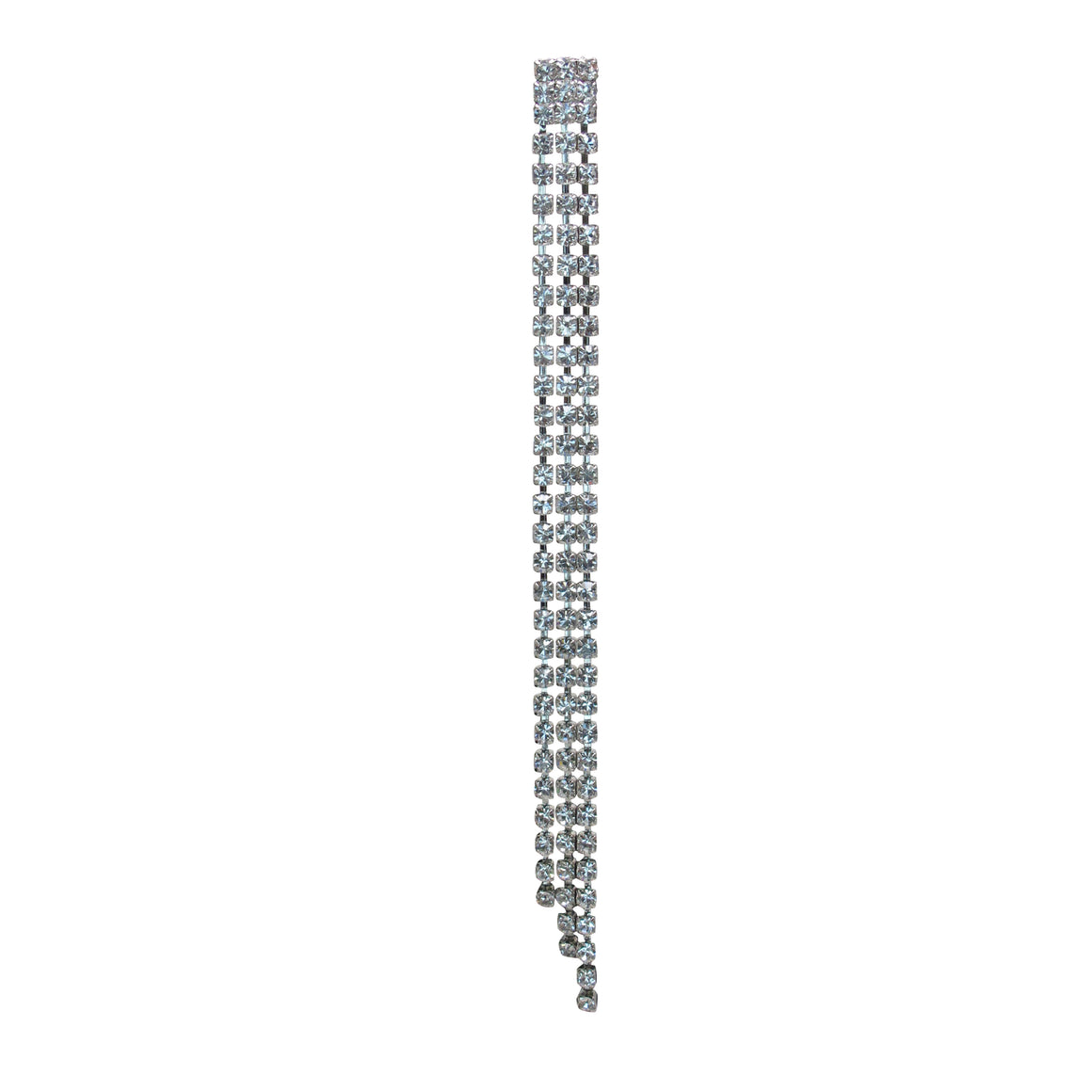C Major Crystal Chain Earrings - Single