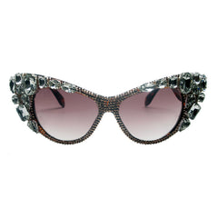 Dalida oversize crystal cat eye