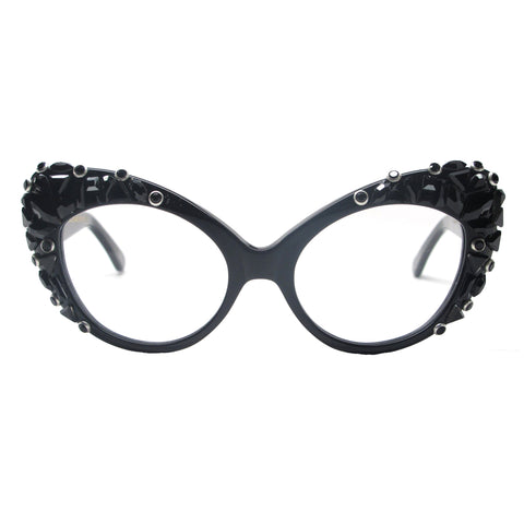 Dando adorned retro oversize cat eye