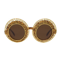 Hooper aztec gold ornament round sunglasses