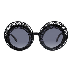 Hooper aztec black ornament round sunglasses