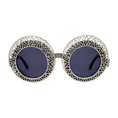 Hooper aztec silver ornament round sunglasses