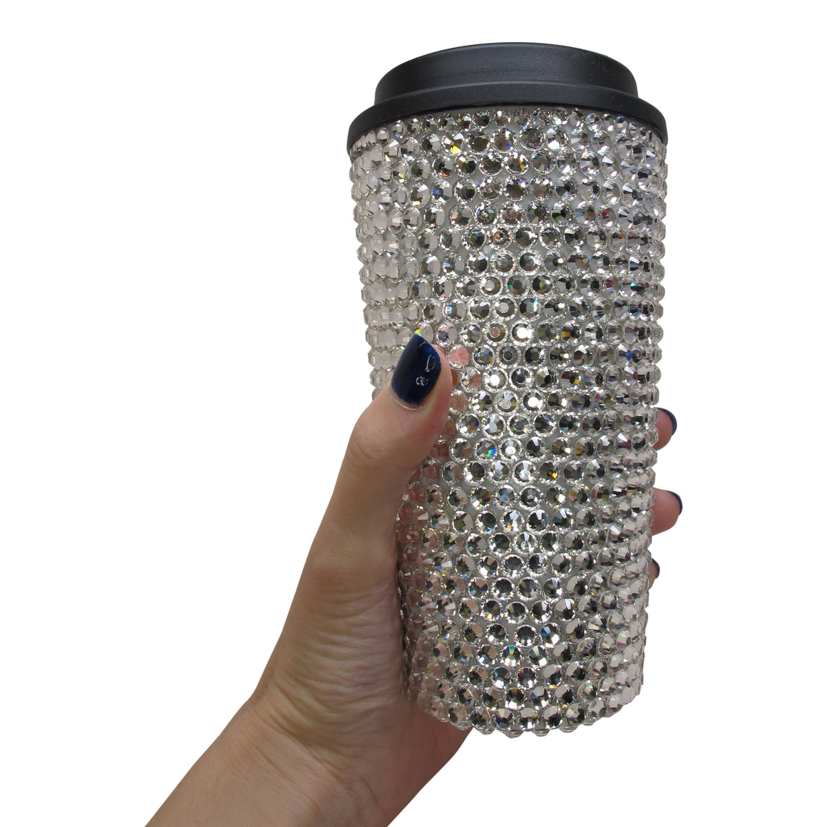Crystal Travel Coffee Cup - Silver