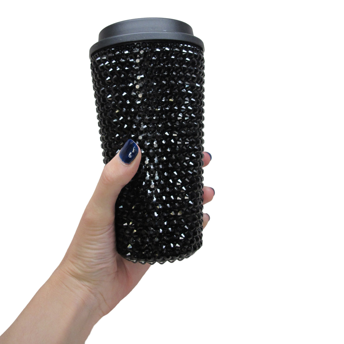 Crystal Travel Coffee Cup - Black