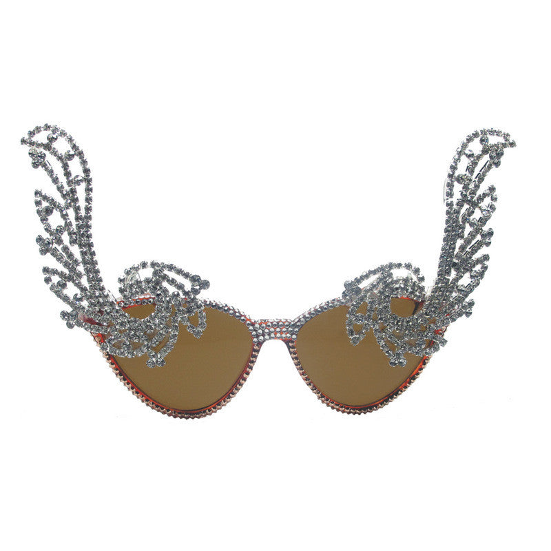 Lene crystal wings sunglasses