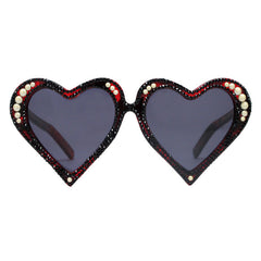 McCready crystal adorned heart shaped sunglasses