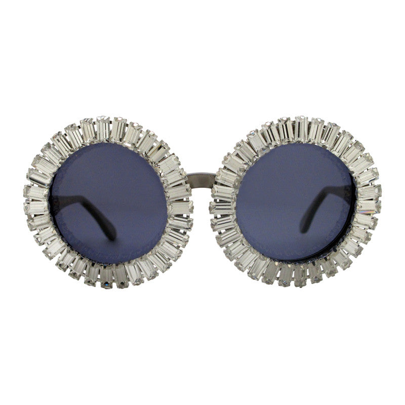 Nellee baguette gem adorned sunglasses