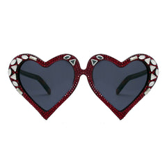 Deily crystal accent heart shaped frames