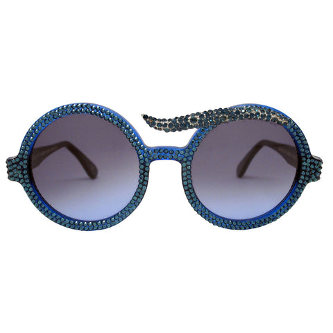 Suzy blue crystal brow accent sunnies