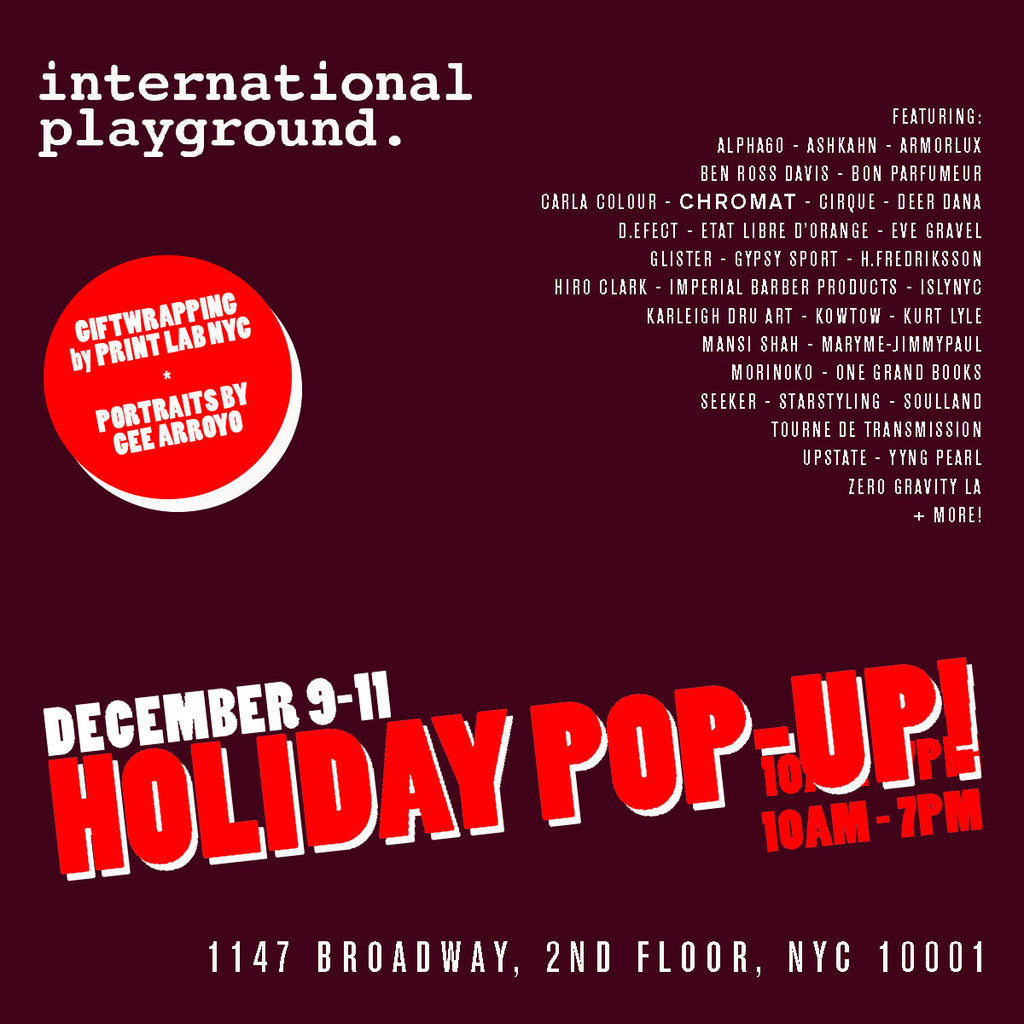 International Playground Pop Up Shop: This Weekend!