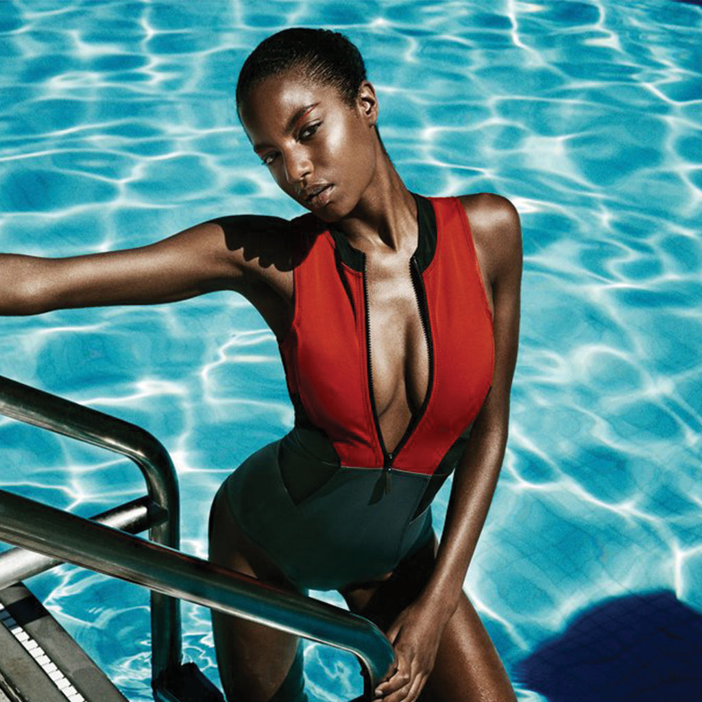 Ebonee Davis in Chromat SWIM