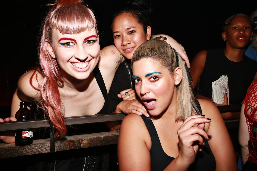 Becca McCharen Denise Bidot Christine Tran at the Chromat SS16 After Party + 5 Year Anniversary Photo by Maro Hagopian