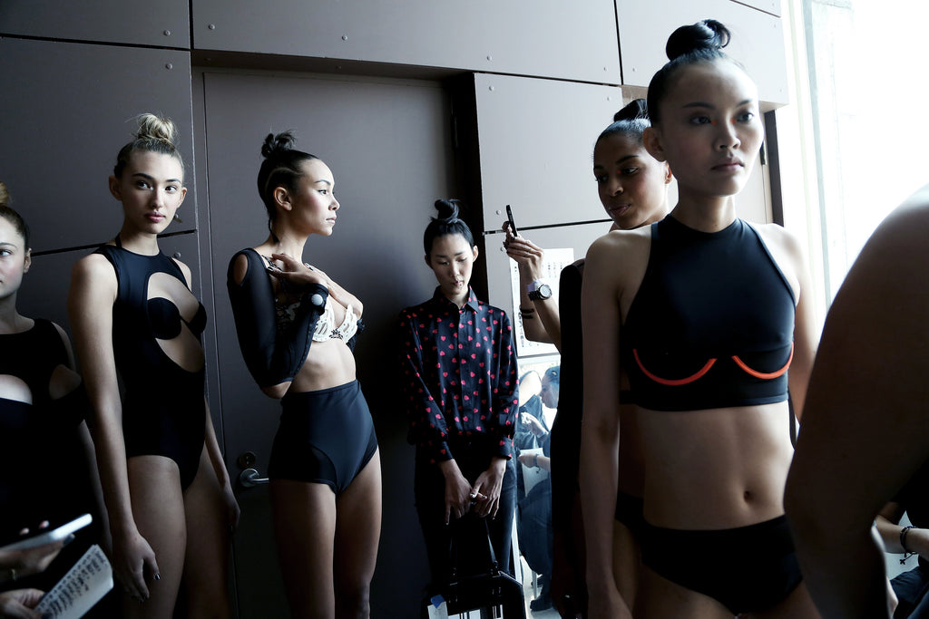 Backstage at Chromat Behind The Scenes Fashion Show