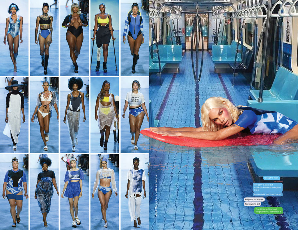Chromat AW19 Climatic Zine Page 9 - swim runway NYFW fashion week fun cool fashion models runway