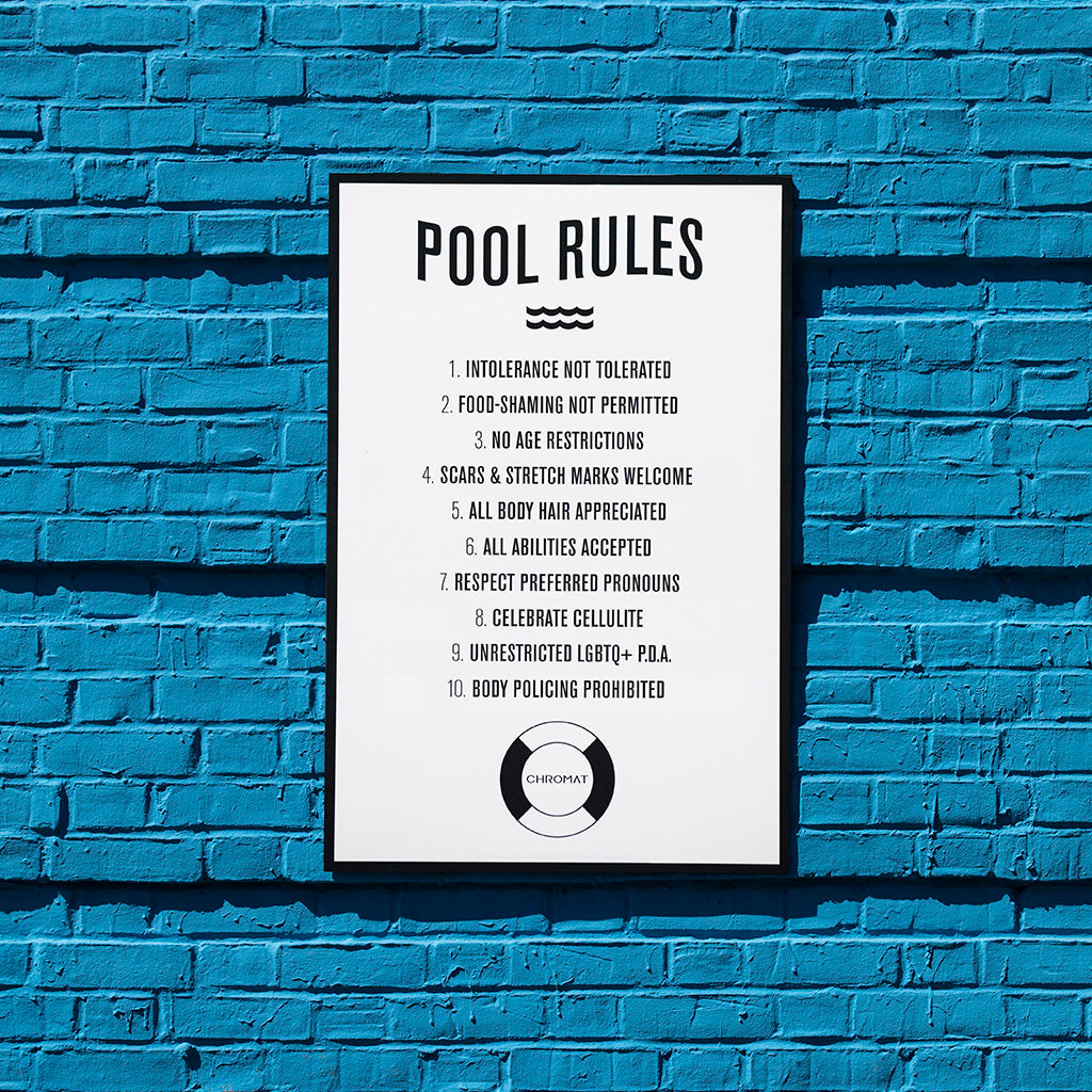 pool rules inclusive