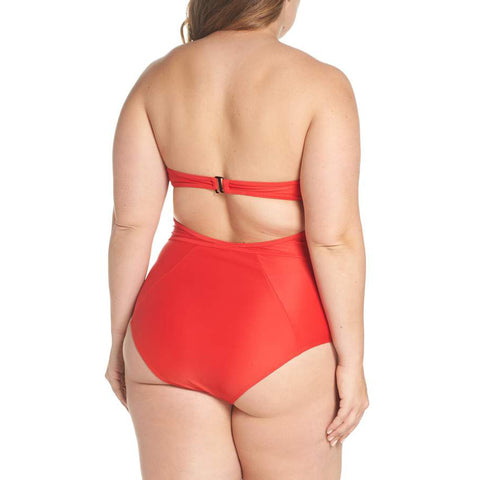 X Bustier Suit - Red