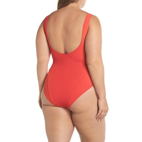 Mica Ribbed Suit - Red