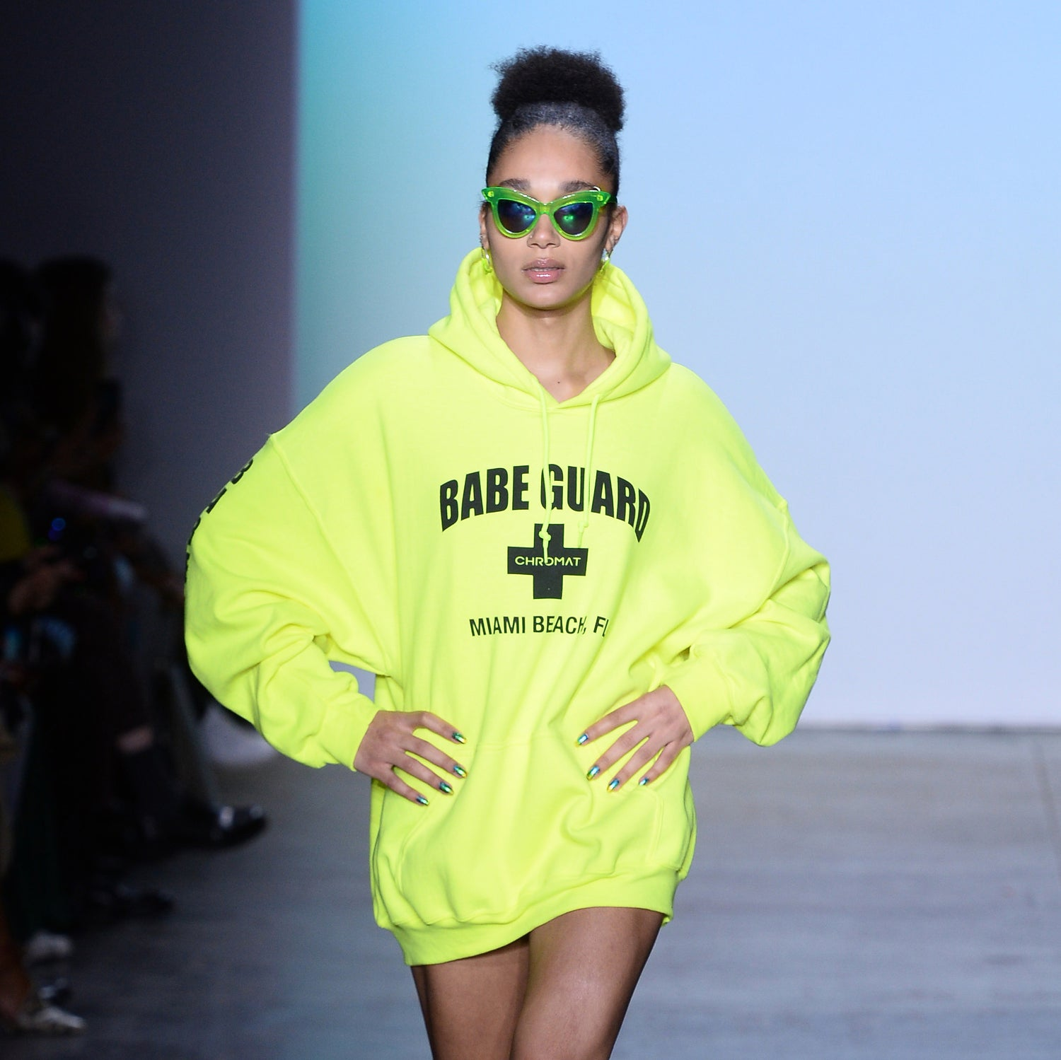 Babe Guard Miami Hoodie - Neon Green