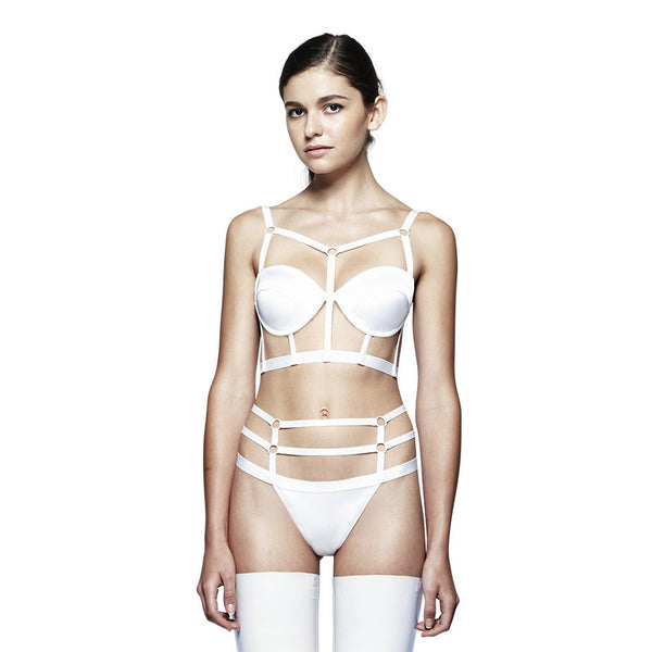 Harness Bra - White