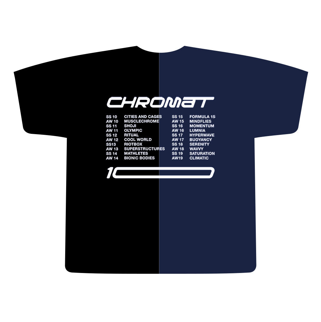 Chromat x Reebok 10 Year T - Black/Navy