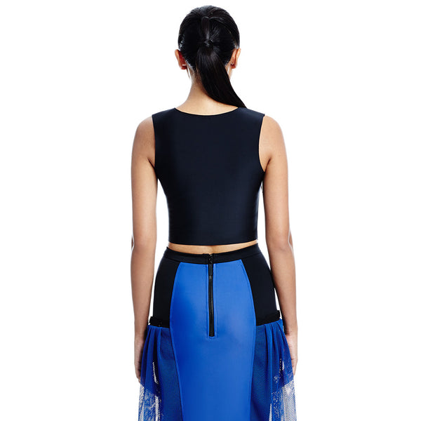Base Buckle Crop - Black