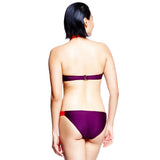 Banded Bottom - Bordeaux/Red