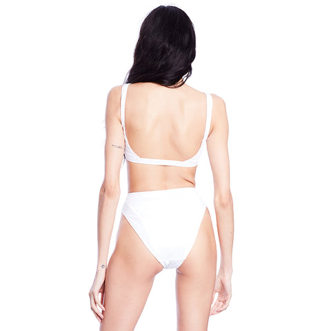 Mica Ribbed Bottom - White
