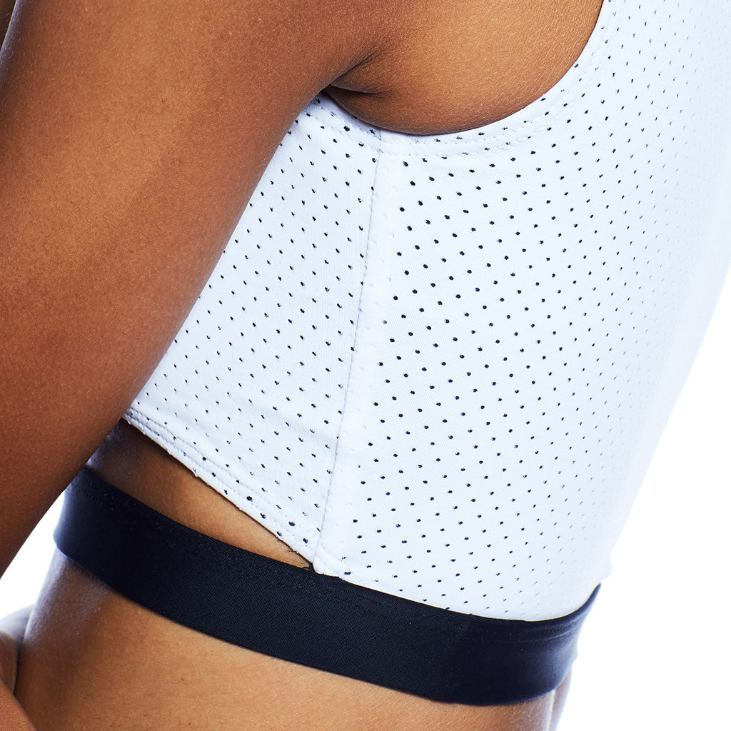 Drew Top - Perforated White