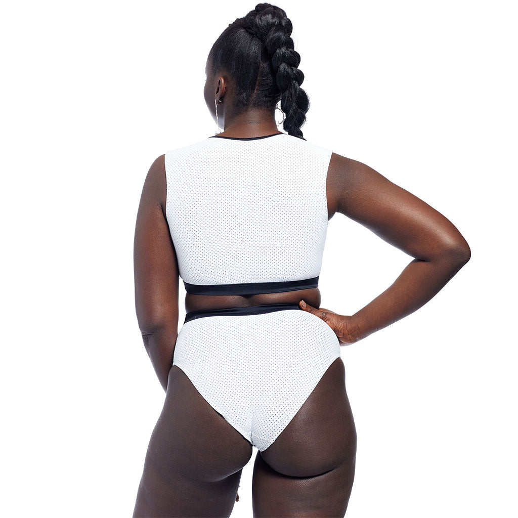 Drew Bottom - Perforated White