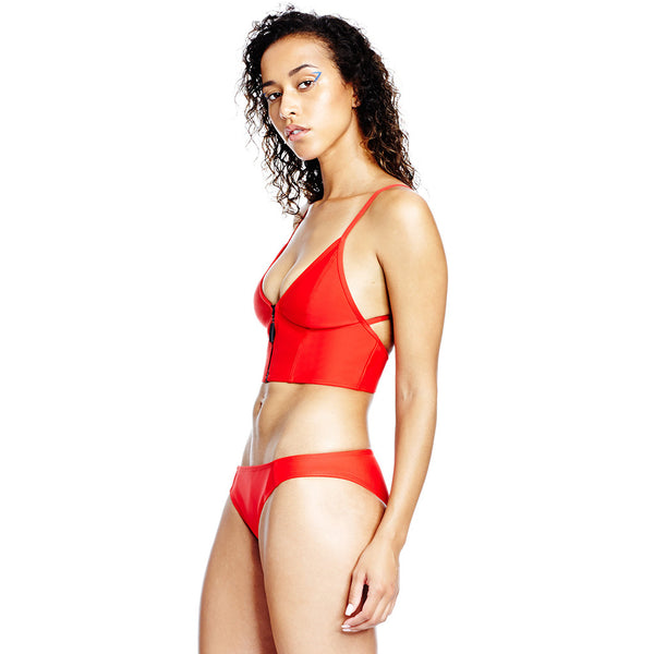 Horizon Bonded Top - Red