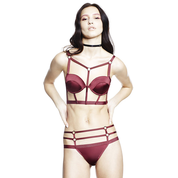 Harness Bra - Bordeaux