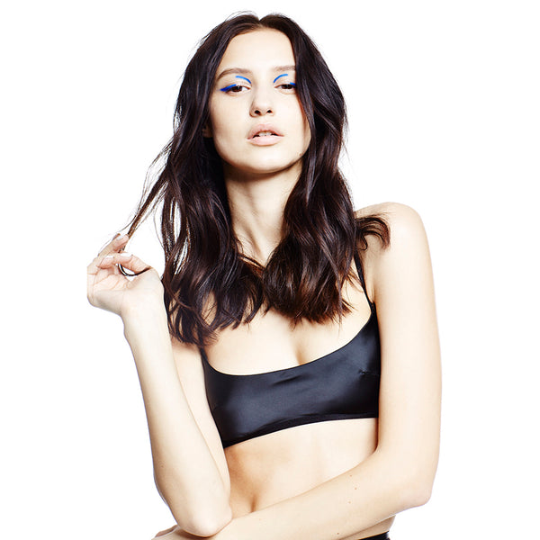 U Satin Bra - Black