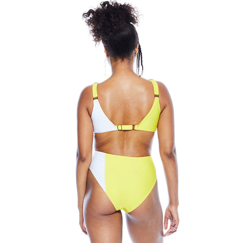 Lindsey Duotone Bottom - Yellow/White
