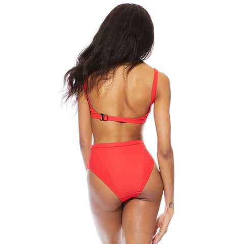 Mica Ribbed Bottom - Red