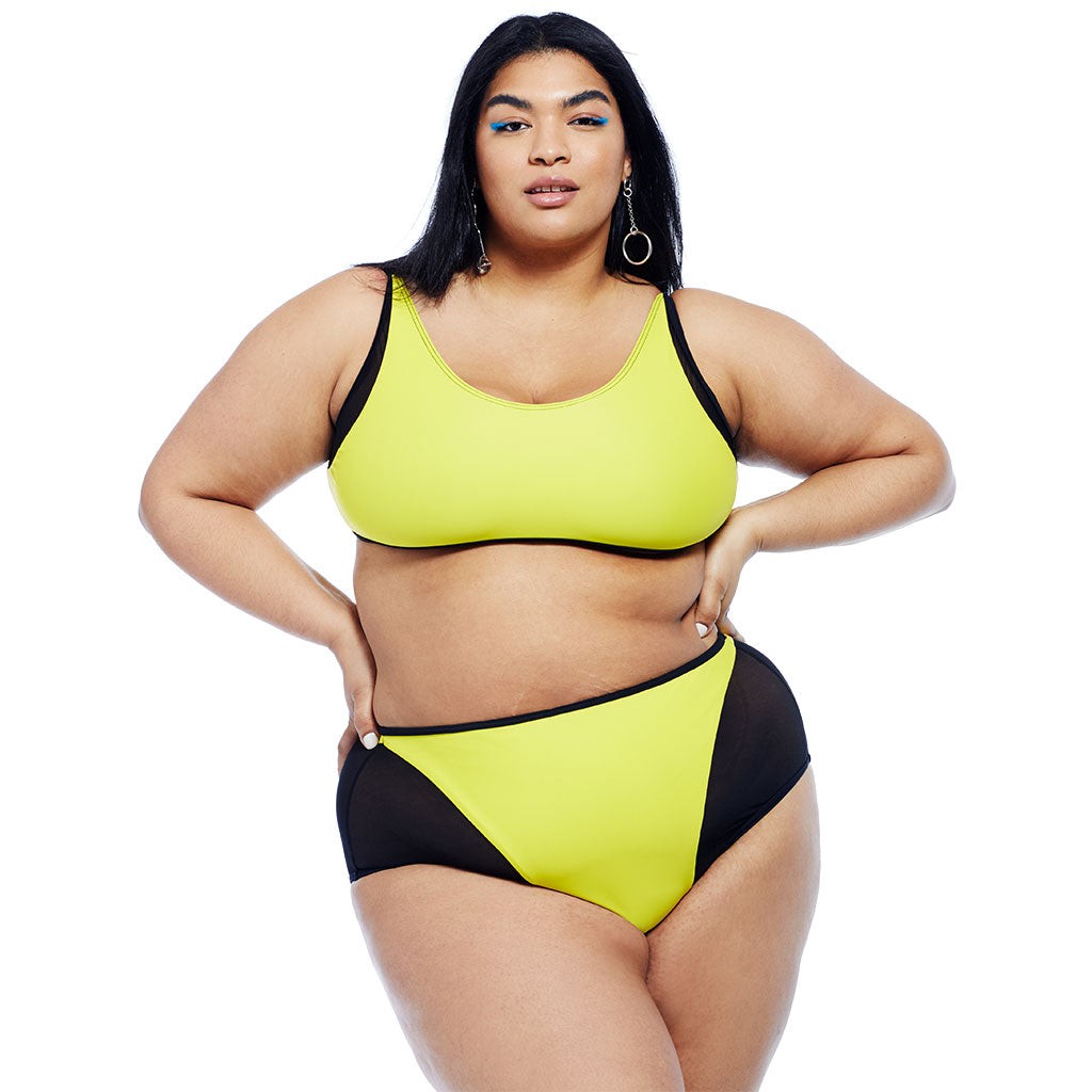 Mikito Bottom - Yellow/Black