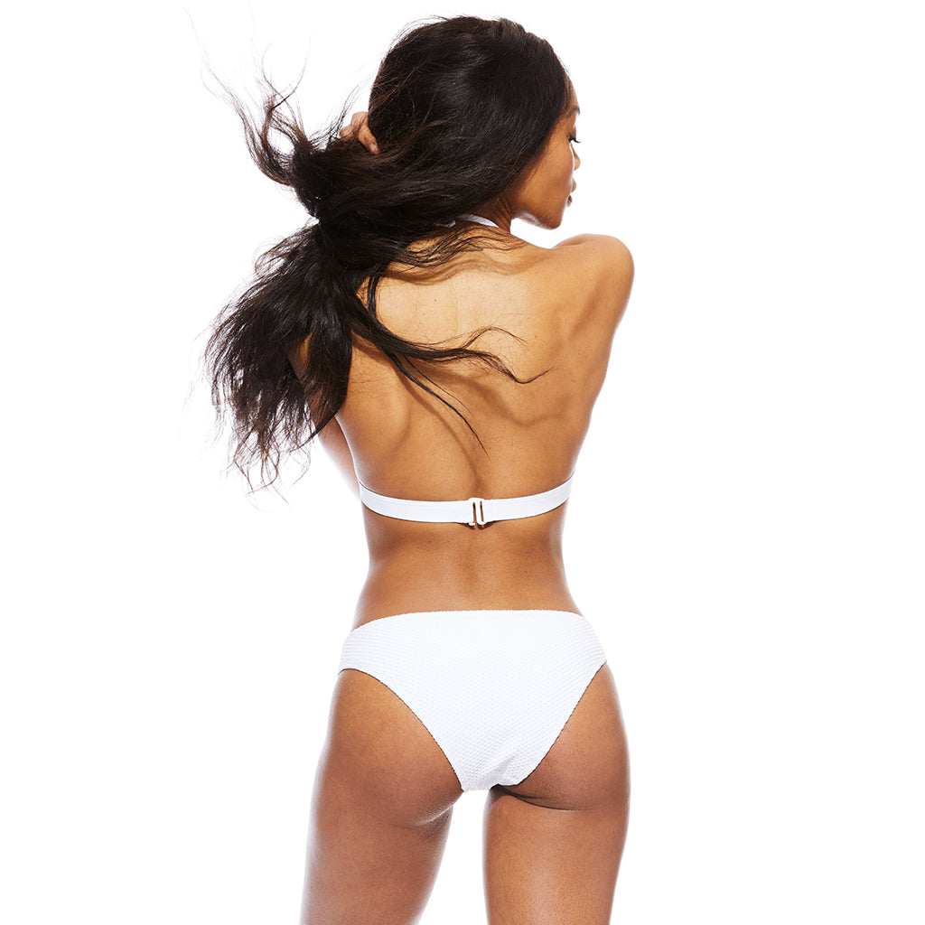 Baseline Ribbed Bottom - White