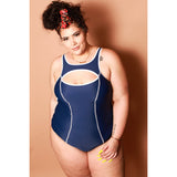 Saldana Suit - Navy / White
