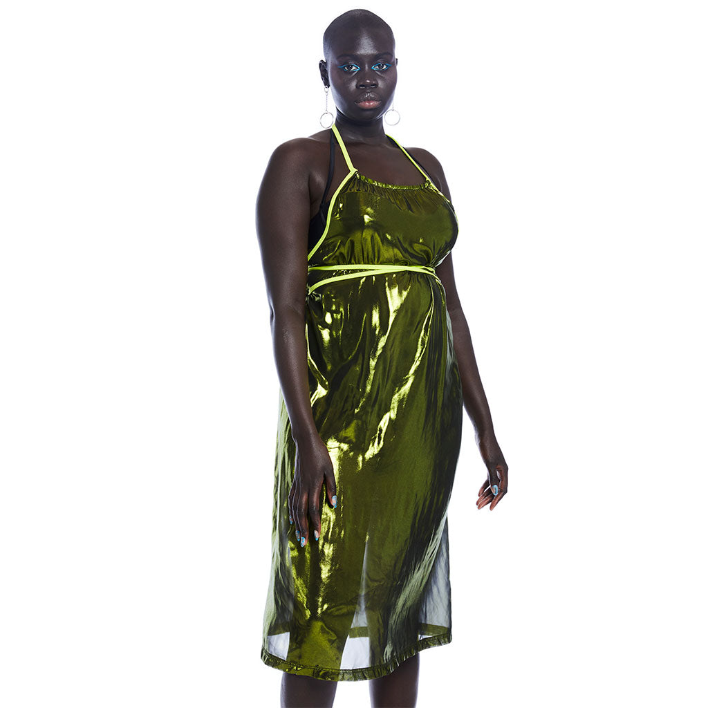Tidepool Wrap Dress - Green