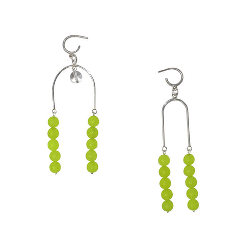 U Earrings - Neon