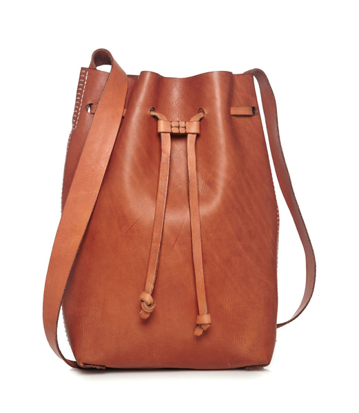 Cenice Leather Bucket Bag