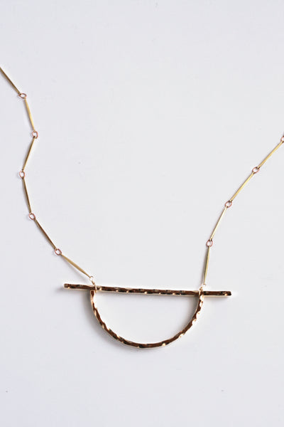 Long Pendent Necklace - Gold