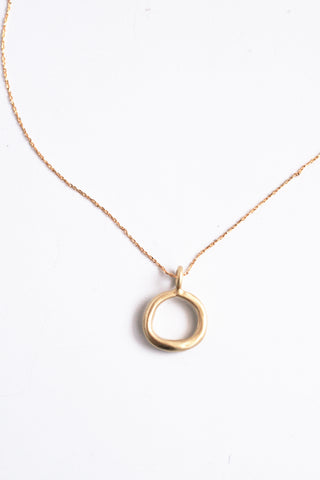 Long Oculus Pendent Necklace - Gold