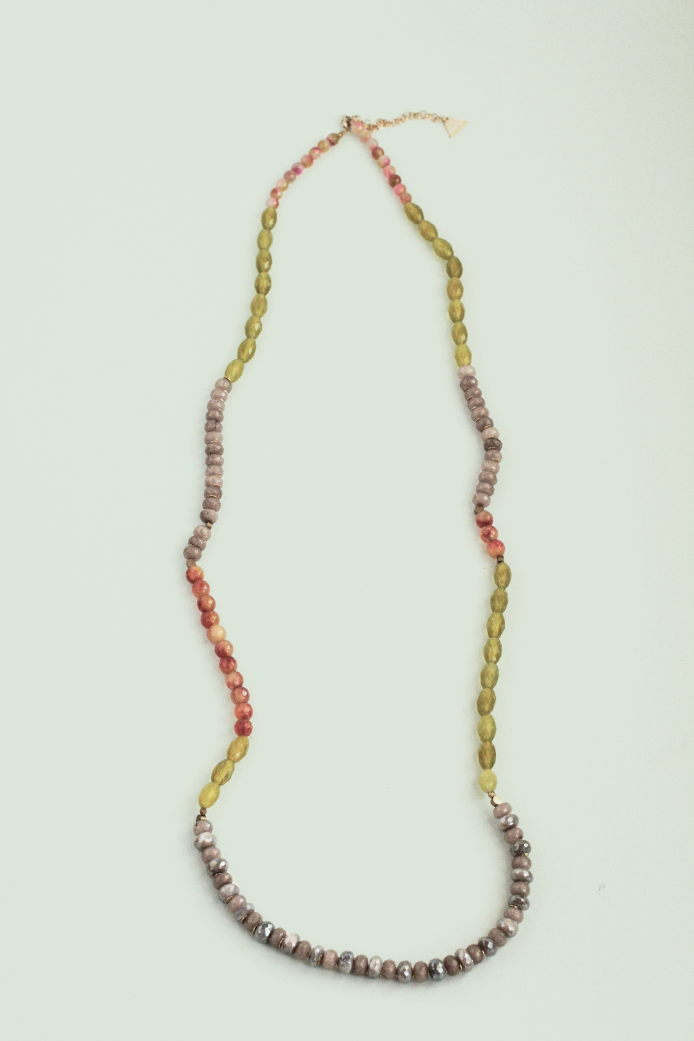 Long Beaded Necklace - Moonstone